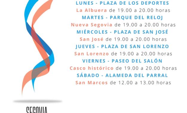 """El Ayuntamiento pone en marcha """"Segovia en plena forma"""", una invitación a realizar actividad física al aire libre"""