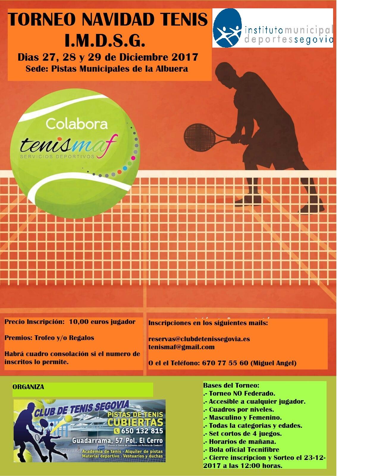 I Campus Urbano de Navidad de Tenis