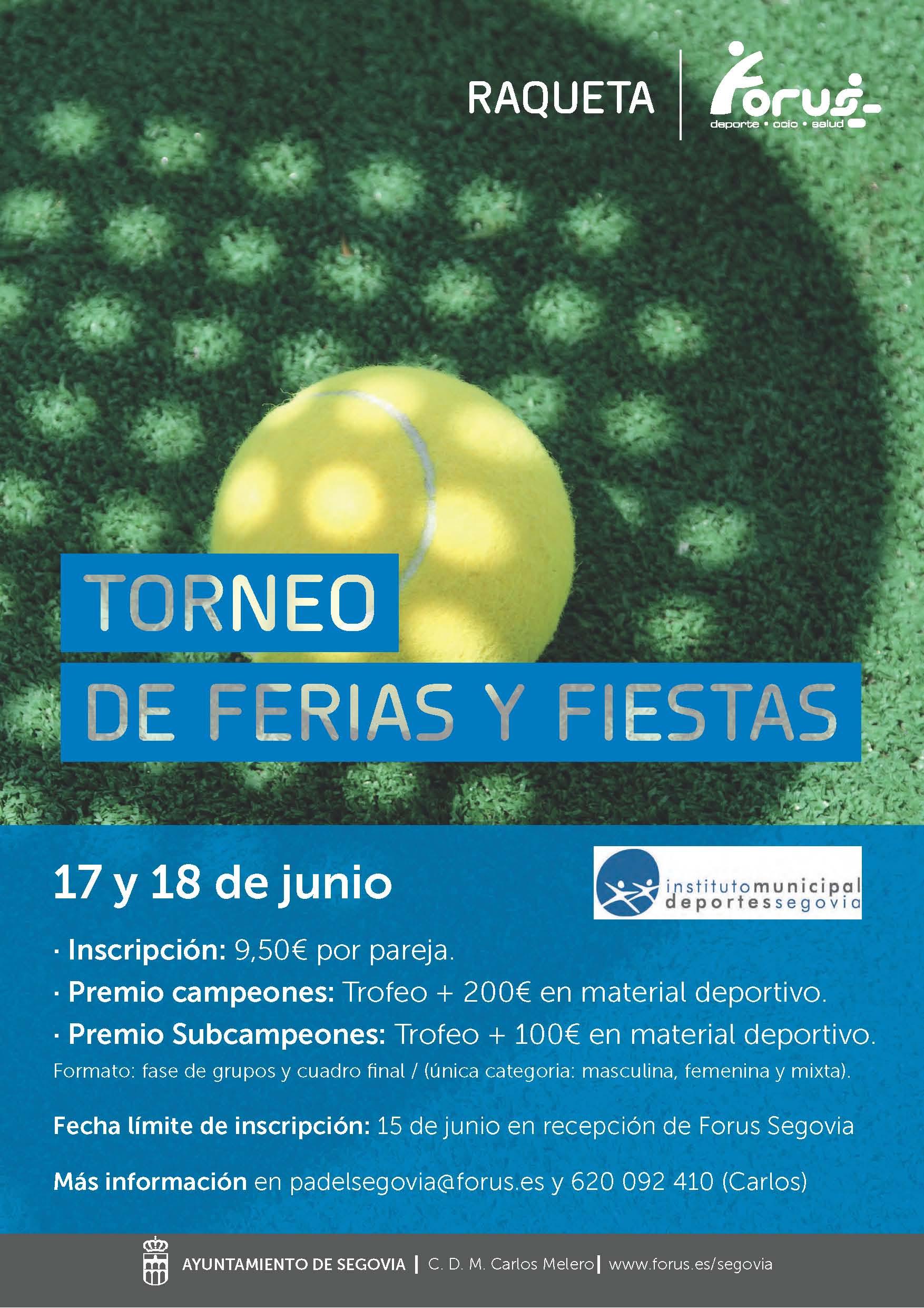 Ferias y Fiestas 2017: Torneo de Padel