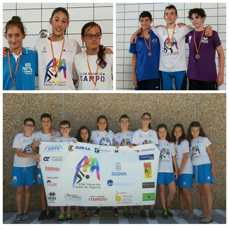 Siete nuevas medallas para el club de nataci n imd ciudad for Piscina rio esgueva