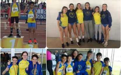 Tres medallas autonómicas de los atletas del Sporting en las pruebas de Anillo Sub-12