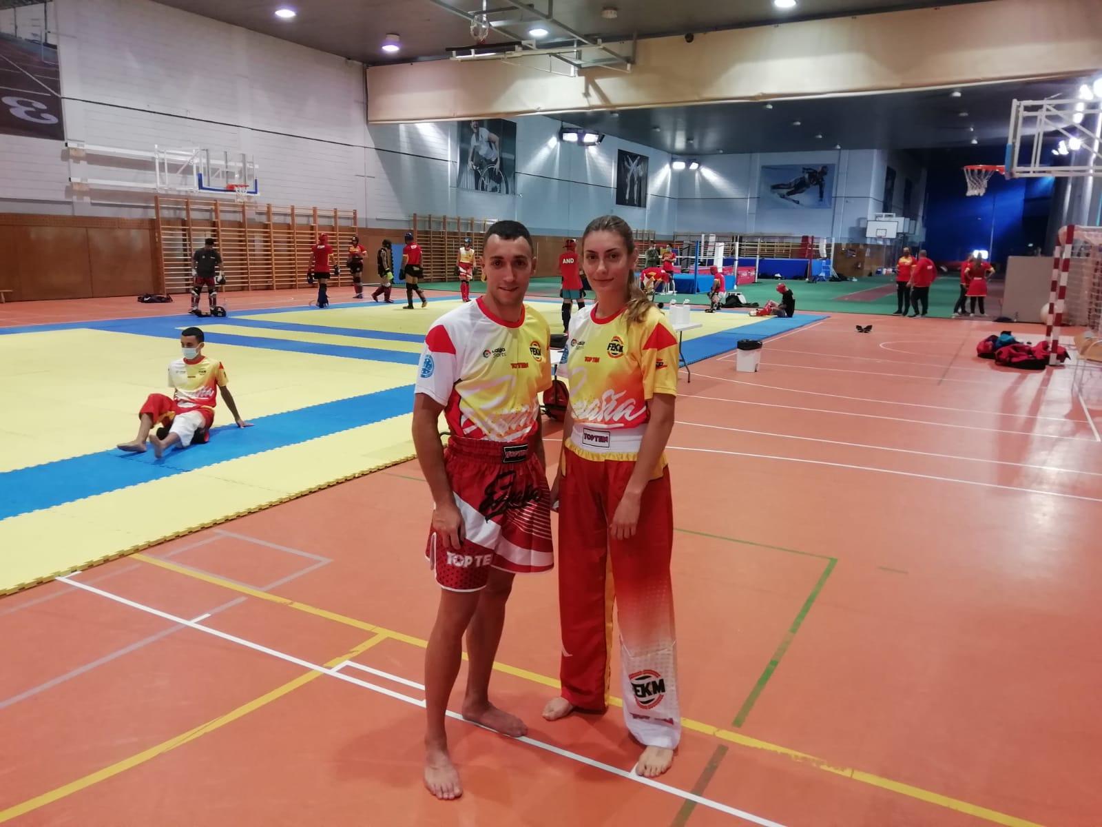 Dos Deportistas Segovianos del Club Victoria de Kickboxing con la Selección Española en el CAR