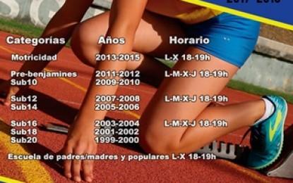 El Club de Atletismo Sporting Segovia inicia la temporada 2017/18