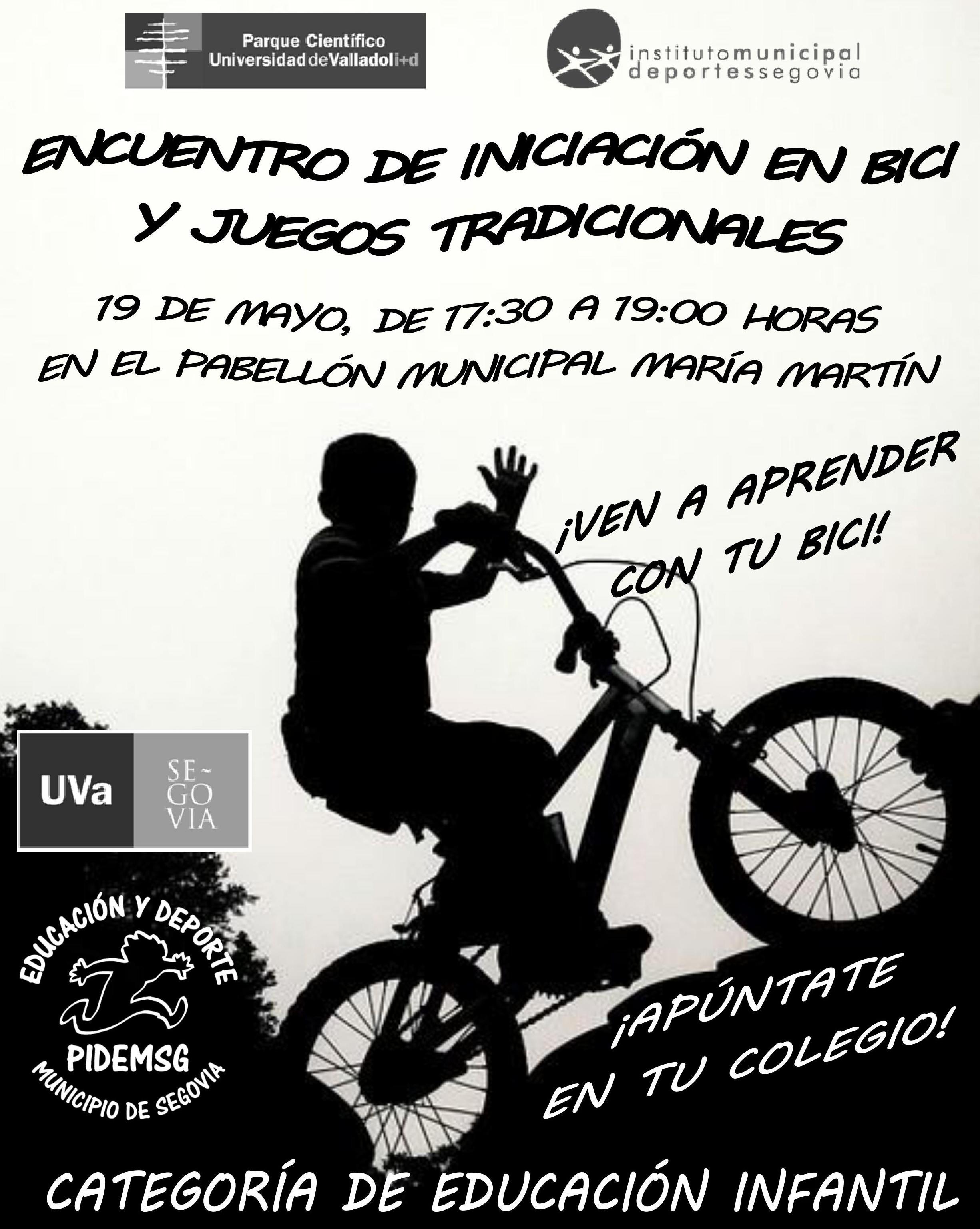 Deporte Escolar: Encuentro de iniciación en bici y juegos tradicionales