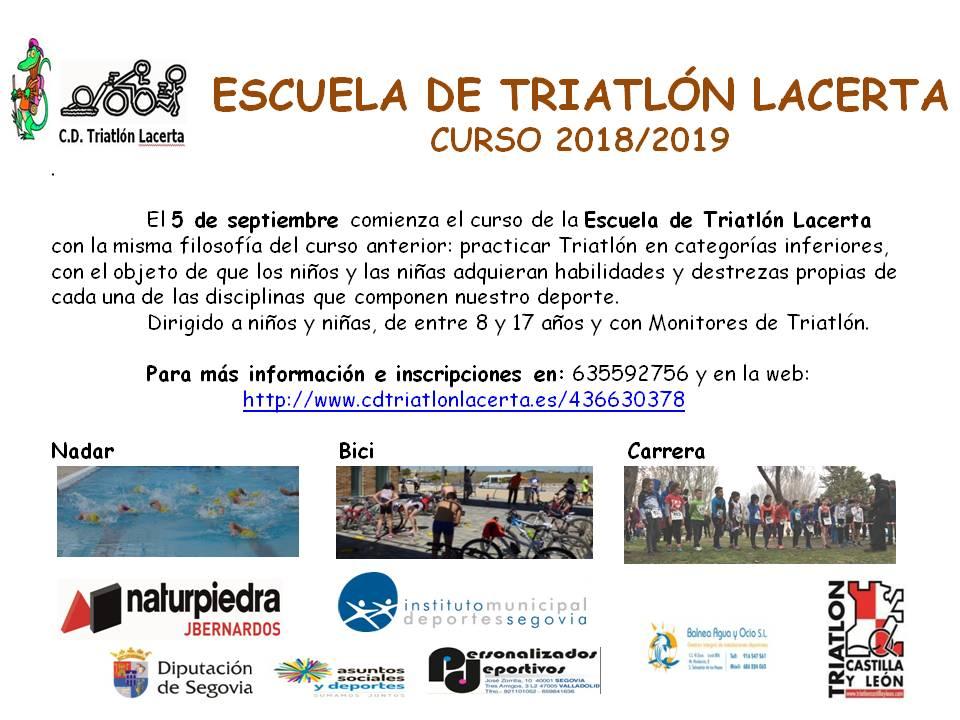 La Escuela de Triatlón del CD Triatlón Laceta comienza el curso 2018/19