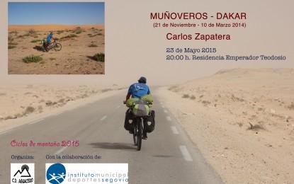 """Carlos Zapatera: Conferencia """"Muñoveros-Dakar """""""
