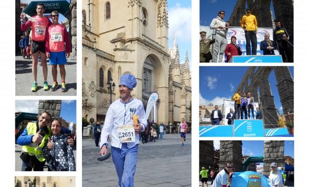Cartel fotográfico de actividades relacionadas con la X Media Maratón Ciudad de Segovia