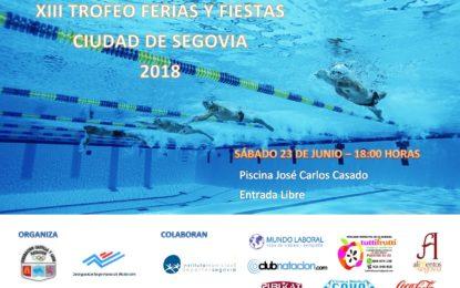 """Ferias y Fiestas 2018: XII Trofeo de Natación """"Ciudad de Segovia 2018"""""""