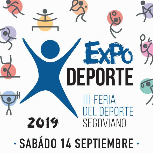 Medio centenar de clubes participan en la Feria del deporte segoviano Expodeporte 2019