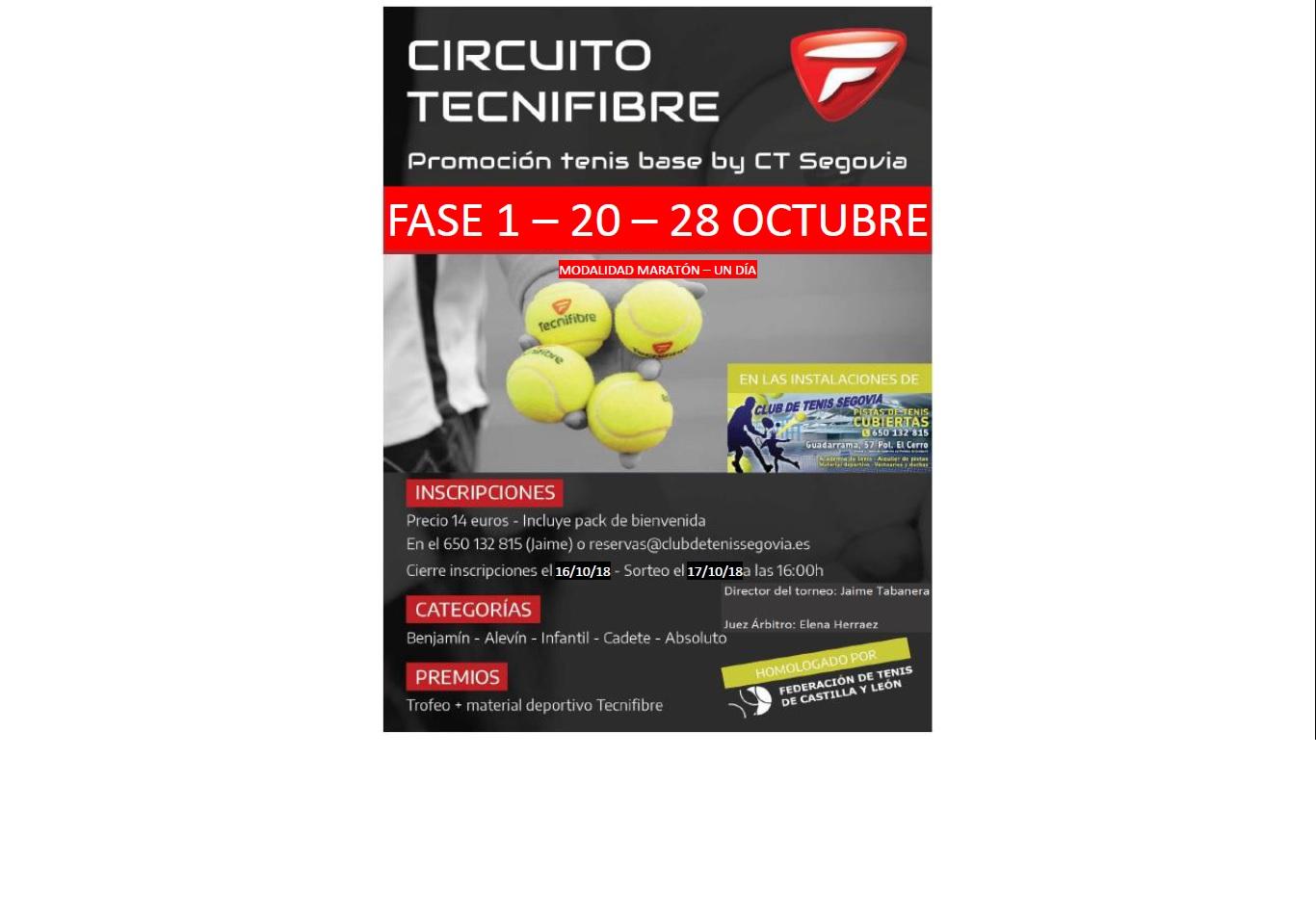 Club de Tenis Segovia:  II Torneo Tenis Tecnifibre CT Segovia (federado)