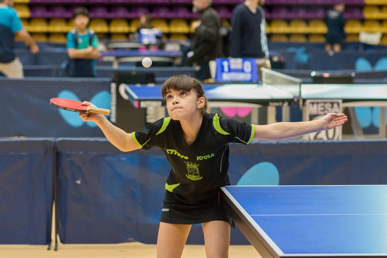 Ángela Rodríguez Martín sube al podium del Campeonato de España absoluto de tenis de mesa