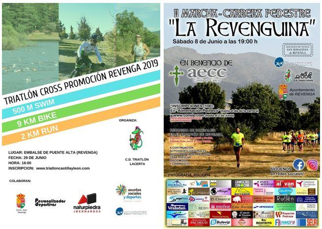 El C.D. Triatlón Lacerta organiza varios eventos deportivos en el mes de junio