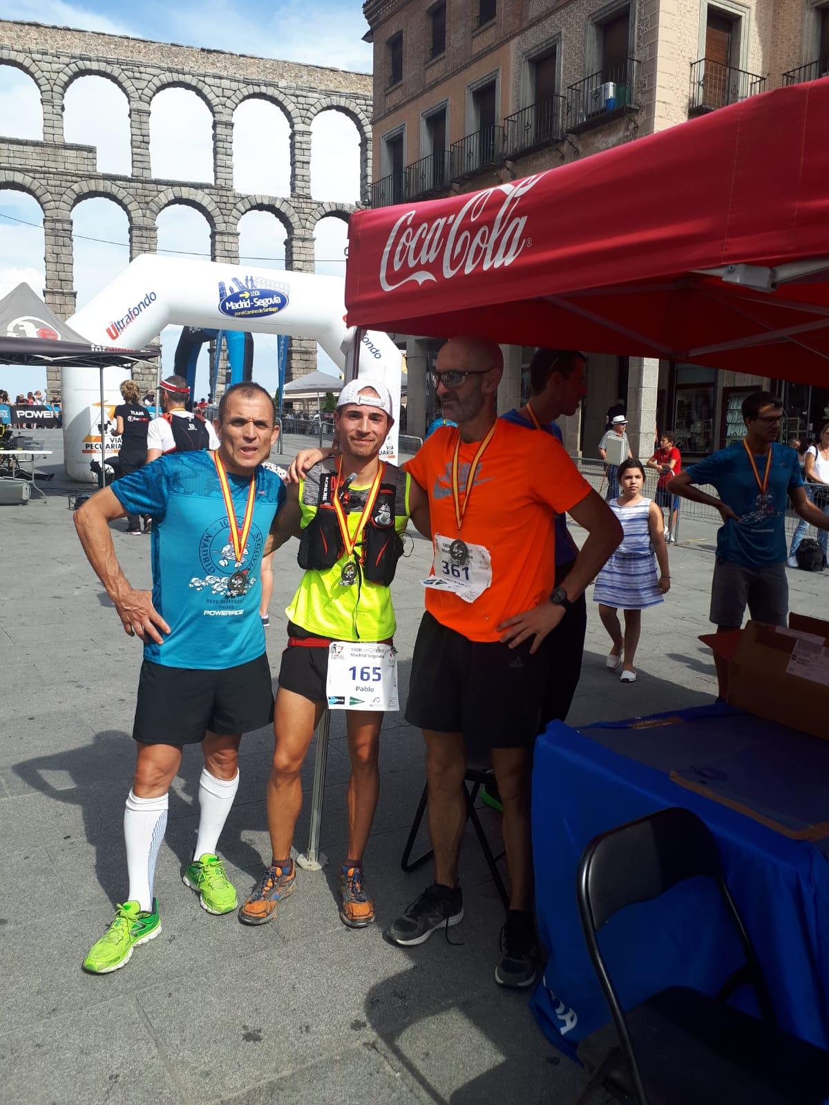 "Destacada actuación segoviana en la ""100 km, Madrid-Segovia"" con Agustín Sunier como tercer clasificado"