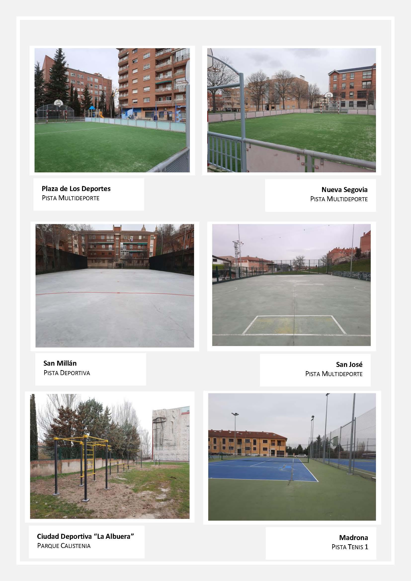 El Ayuntamiento de Segovia finaliza la primera fase de actuaciones de mejora de las pistas deportivas al aire libre de la Ciudad