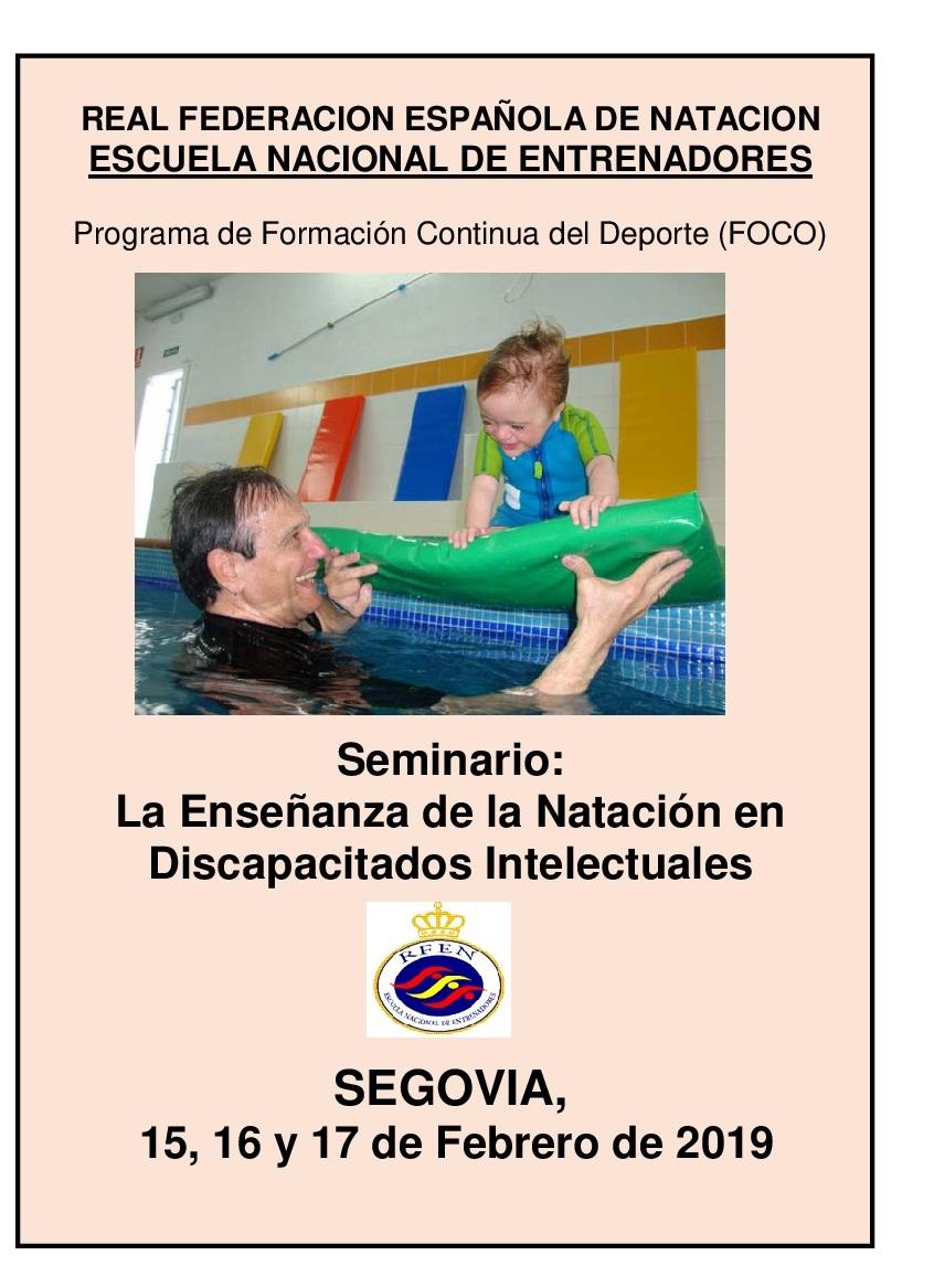Seminario: La Enseñanza de la Natación en Discapacitados Intelectuales
