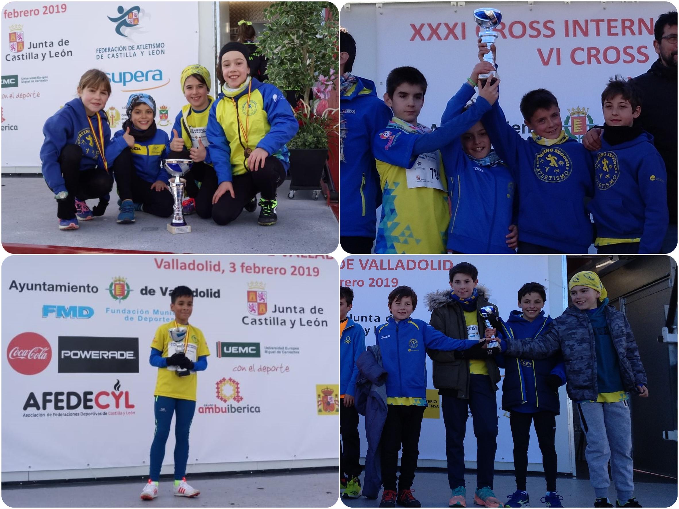 """El  C.D. """"Sporting Segovia"""" primero, segundo y tercero en el Autonómico de Clubes de Campo A Través"""