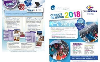 Viaje a la nieve y Cursos de Esquí con ventajas para los titulares del Carné Deportivo Municipal