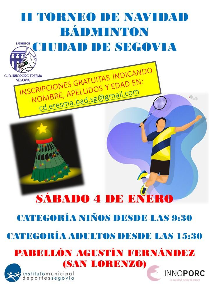 """II Torneo Navidad Bádminton """"Ciudad de Segovia"""""""